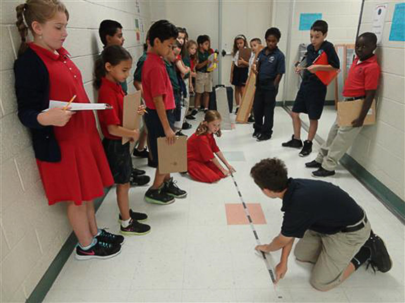 4th grade students conducting an inquiry into friction.