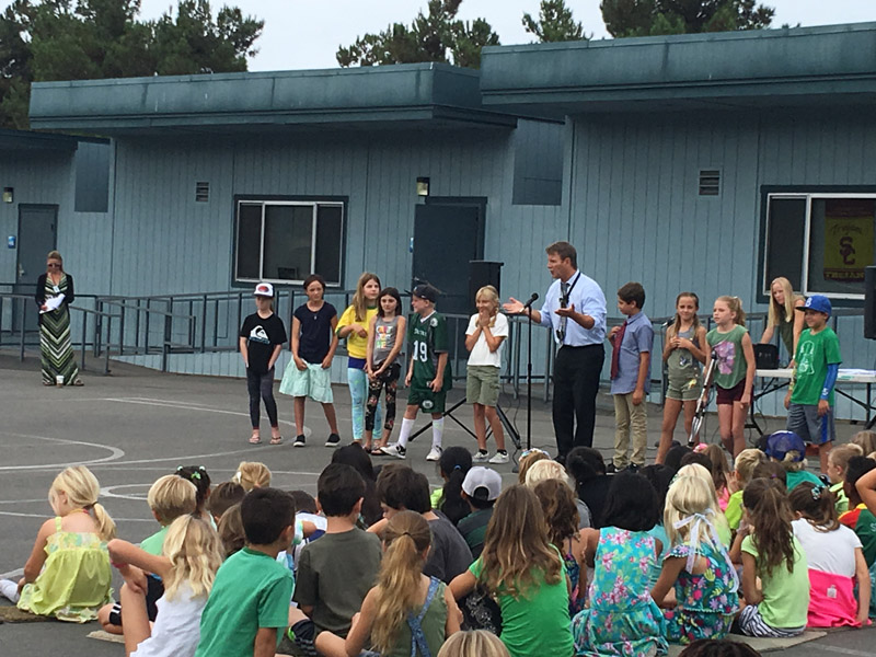 Responsibility Skits at the Monthly Character Trait Assembly