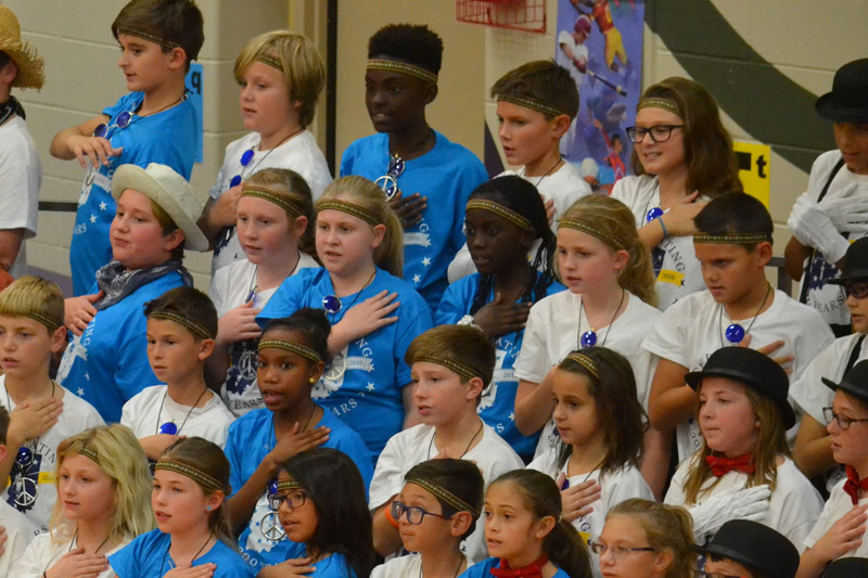 White Lick Students Honor Indiana's Bicentennial Celebration