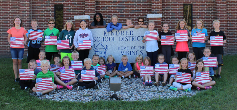 Pride in our country, community and school. Go Vikings!