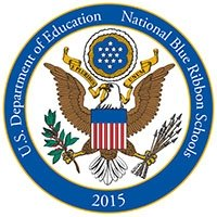 National Blue Ribbon Schools Program Logo - Students and staff of Magee Elementary