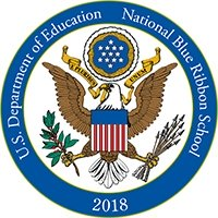 National Blue Ribbon Schools Program Logo - YES students celebrate core values at monthly school-wide community meetings.
